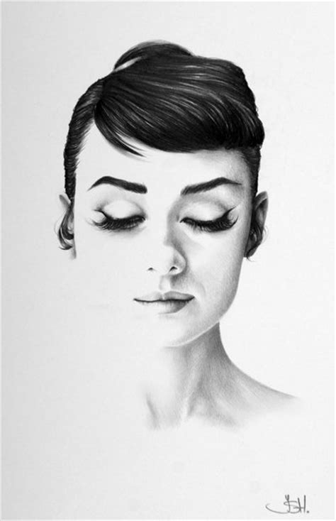 drawings of 1950 boy s hairstyles gorgeous half drawn portraits of female celebrities