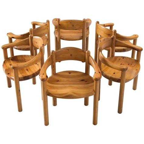 Pine Dining Room Chairs Rainer Daumiller Set Of Six Dining Chairs In Solid Pine For Sale At 1stdibs
