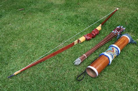 Handmade Bow And Arrows - handmade bow and arrow archery set 10 arrows wooden