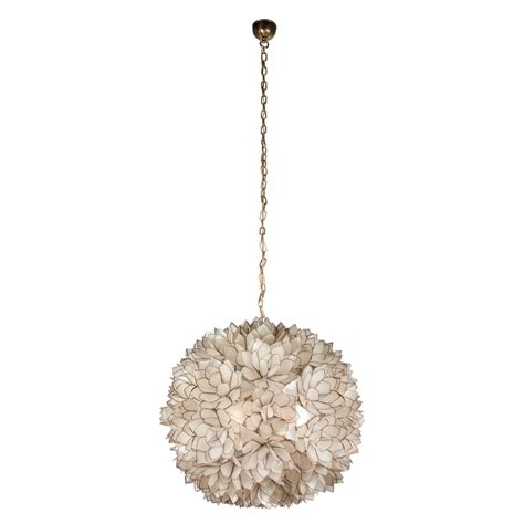 Shell Chandeliers For Sale Globe Capiz Shell Chandelier 1960s For Sale At 1stdibs