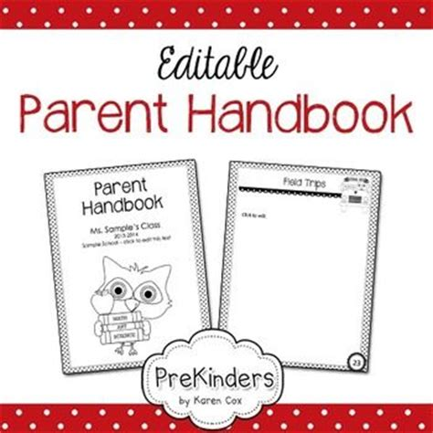 parent handbook editable parent handbook the text and