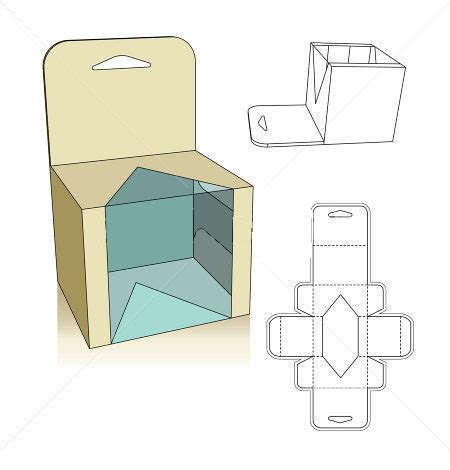 template for packaging box template corrugated and folding box