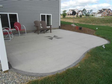 Simple Concrete Patio Designs Poured Concrete Patio Ideas Simple Concrete Patio Designs