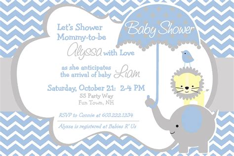 Elephant Baby Shower Invitations by Elephant Baby Shower Invitation Boy By Asyouwishcreations4u