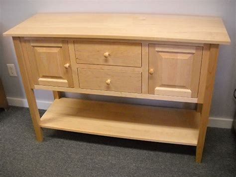 Shaker Furniture Of Maine by Shaker Furniture Of Maine 187 Maple Huntboard With Low Shelf