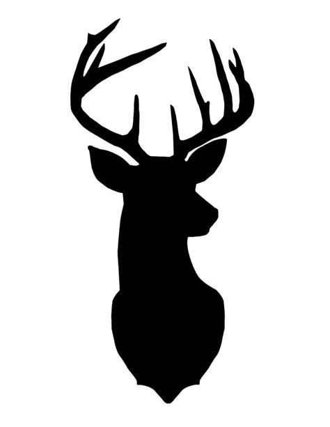 deer head 25 best ideas about deer head silhouette on pinterest