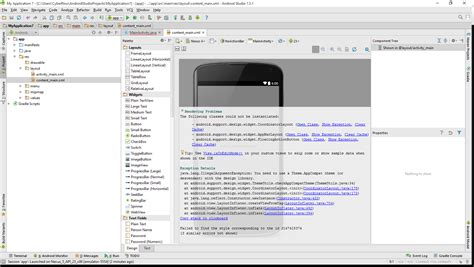 layoutinflater android studio rendering problems with android studio stack overflow