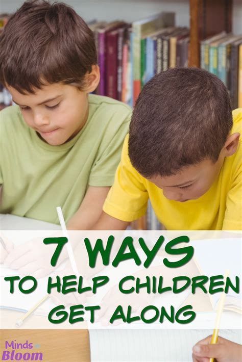 7 Ways To Relieve by 7 Ways To Help Children To Get Along Minds In Bloom
