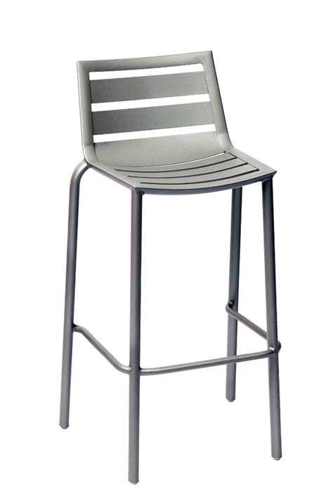commercial bar stools and tables commercial outdoor aluminum stacking barstool with titanium silver finish bar restaurant