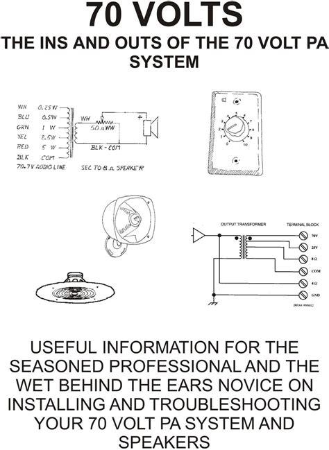 70 volt speaker wiring diagram speaker free