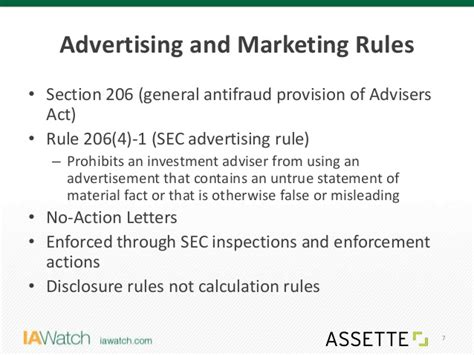 Investment Advisers Act Section 206 by Ia Assette Advertising Marketing Compliance Webinar On 1 26