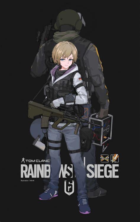 X Anime Siege by Artstation Rainbow Six Siege Fan M4 M4 Sci Fi