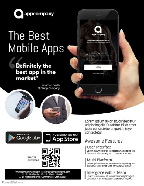 App Promo Flyer Template Postermywall App Promo Template