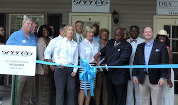 Tag Office Hinesville Ga by Speros Cuts Ribbon On New Hinesville Office Carriage