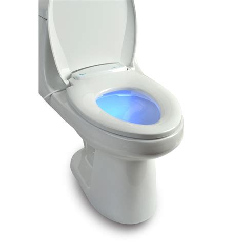 Closet Seat by Brondell Lumawarm Heated Nightlight Toilet Seat Toilet