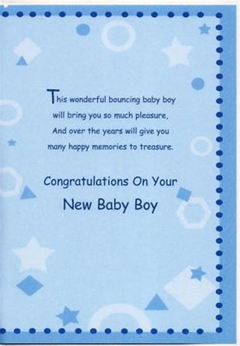 Baby Boy Baby Shower Card Messages by New Baby Boy Wishes Birth New Baby Boy Greeting Card