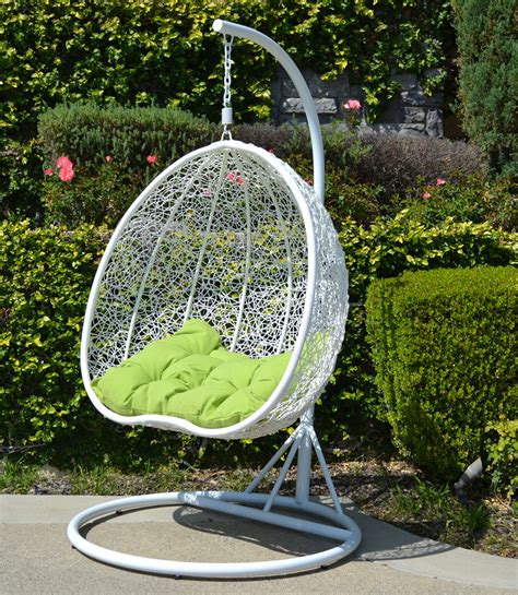 wicker hammock swing chair white lime egg shape wicker rattan swing chair hanging