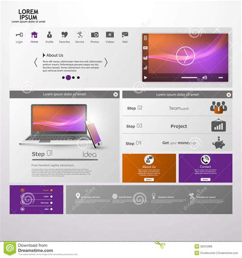 eps format web web design elements templates for website royalty free