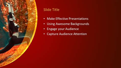 yoga powerpoint template  powerpoint templates
