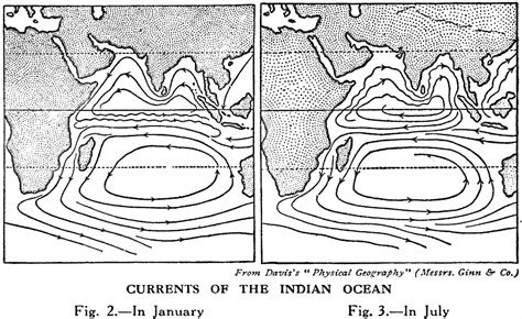 indian currents map indian seasonal currents