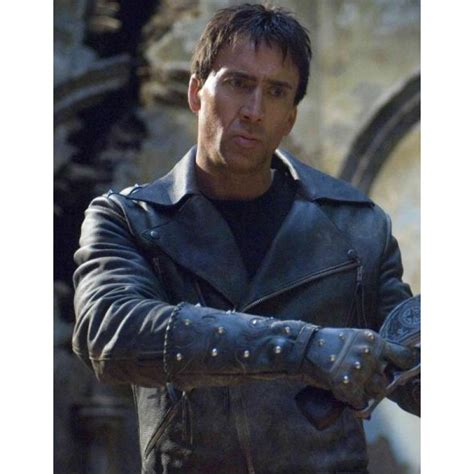 Ghost Rider Nicolas Cage Johnny Blaze Real Leather Jacket