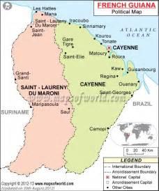 political map of guiana suriname