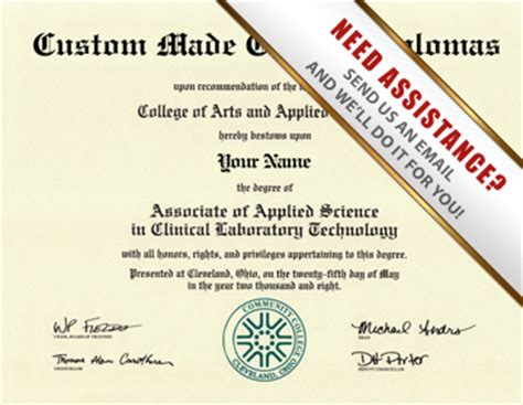 Fake Masters Degree Diploma.