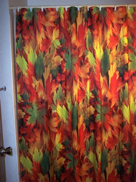 autumn shower curtain fall shower curtains beautiful nature fall autumn leaves