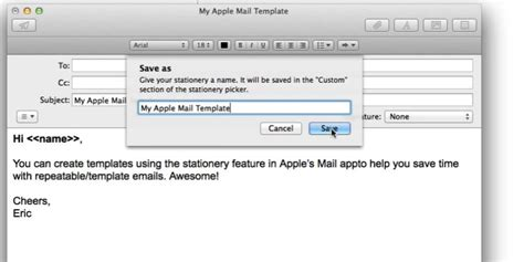 apple mail template