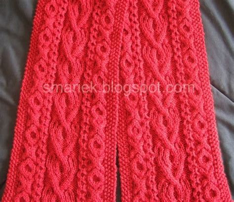 st st knitting st albans cable scarf smariek knits