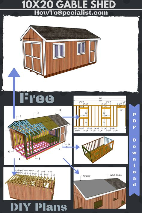 gable shed plans    shed plans