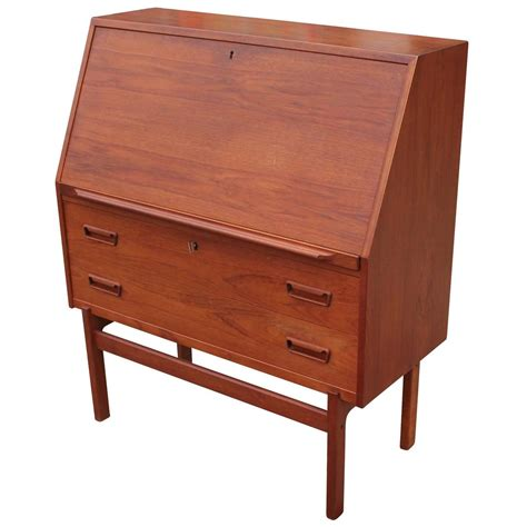 Drop Front Desks by Wonderful Teak Drop Front Desk For Sale At 1stdibs