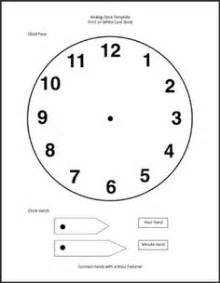 make your own clock template make your own clock template teaching grade