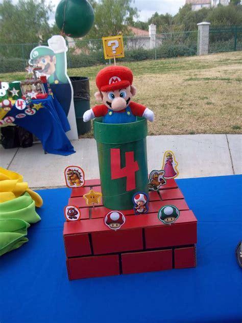Super Mario Bros Birthday Party Ideas   Photo 9 of 20