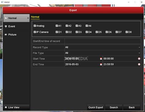 hikvision dvr menu simulator