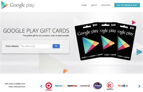 How To Get Play Store Gift Card - google play gift cards now available from target gamestop radio shack walmart and