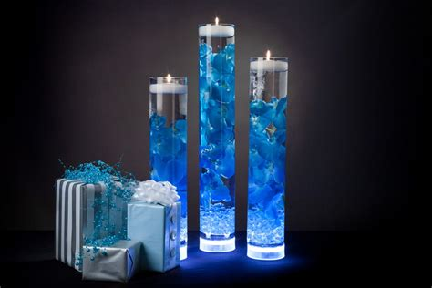 centerpieces with led lights beautiful blue floral centerpieces with led lights and candles