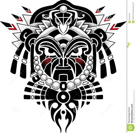 tribal mask vector illustration stock photo image 61519748