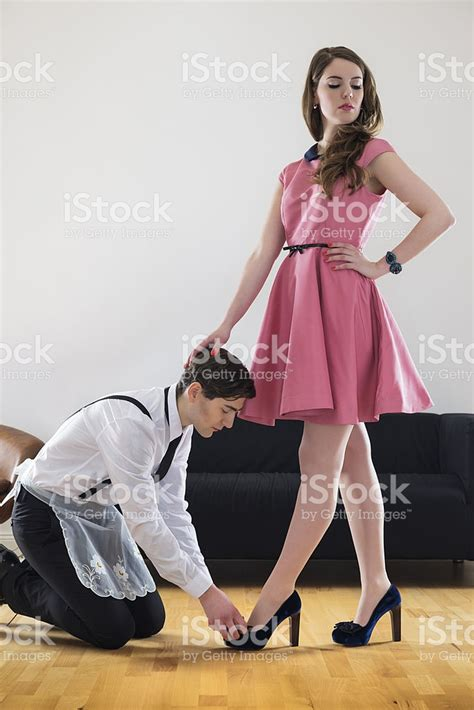woman dominates husband female dominating her husband stock photo istock