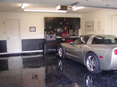 garage black metalic floor epoxy coating garage  grey