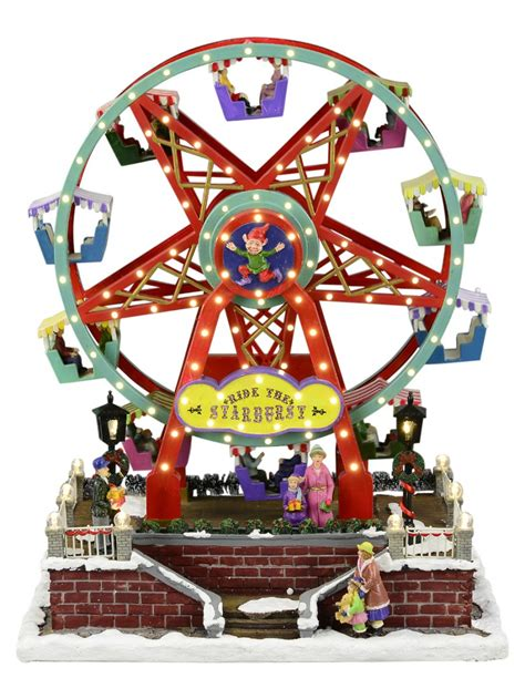 illuminated animated musical ride the starburst ferris