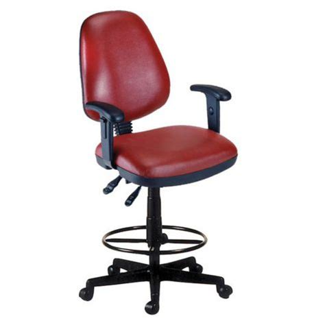 Anti Bacterial Wine Vinyl Office Task Chair W Arms by Antimicrobial Vinyl Drafting Stool W Arms Officechairs