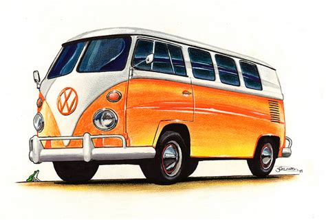 volkswagen van clipart drawn bus volkswagen pencil and in color drawn bus
