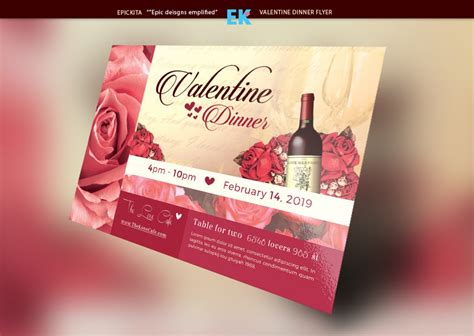 Flexible Valentine Templates Deals Dinner Flyer Template