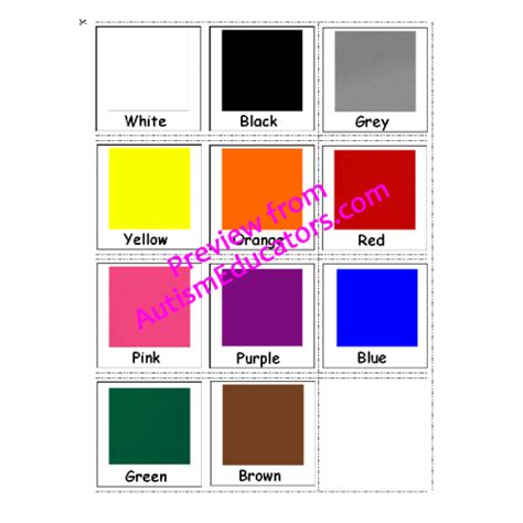 color for autism free autism communication cards colors