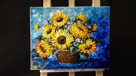 acrylic painting how to do it how to paint sunflower with acrylic paint using a palette