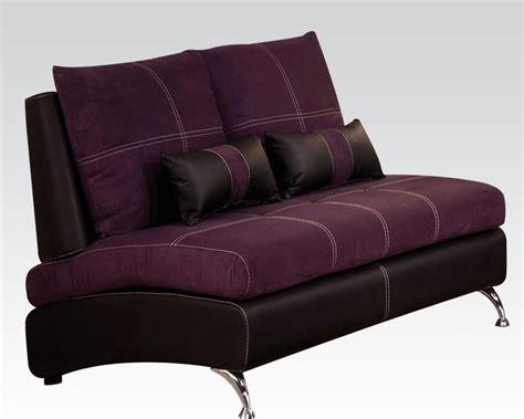 purple loveseats contemporary loveseat jolie purple by acme furniture ac51751