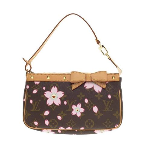 Louis Vuitton Limited Edition 50113 louis vuitton pochette accessoires limited edition cherry blossom at 1stdibs