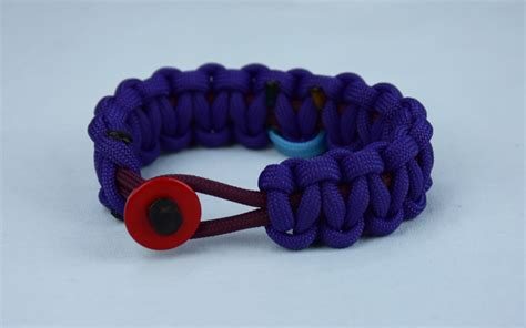 burgundy and purple sids support paracord bracelet w red button front tarheel blue and soft pink