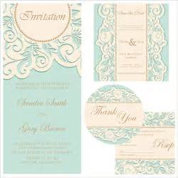 retro wedding invitation cards design 01 vector card free